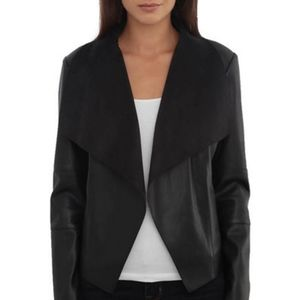 Maurices Draped Faux Leather Jacket, Sz.1